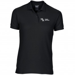 MK COLLEGE LADIES BLACK POLO SHIRT