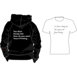 Hoody and tee shirt set with free print